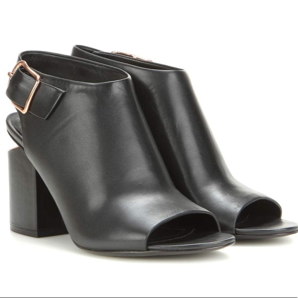 Alexander Wang Leather Peep-Toe Booties outlet low cost 9HPdPlNv2